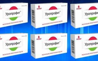 Таблетки для лечения цистита уропрофит