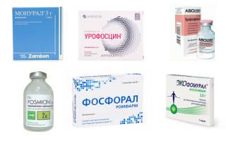 Порошки применяемые при лечении цистита