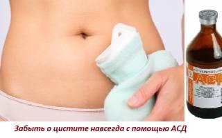 Асд фракция при лечении цистита