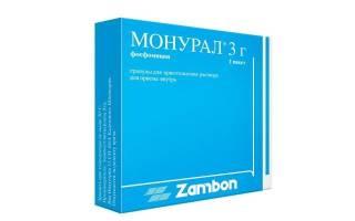 Лечение цистита монуралом и нолицином