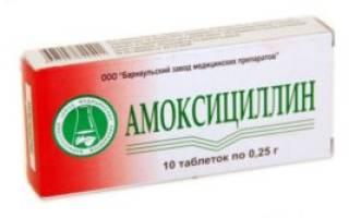 Курс лечения амоксициллином при цистите