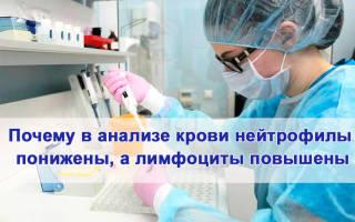 Нейтрофилы понижены лимфоциты повышены цистит